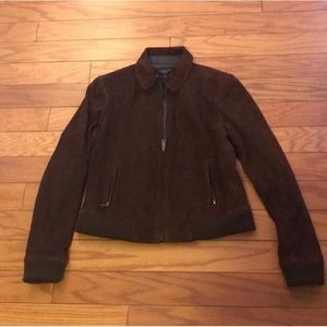 Talbots Suede Brown Jacket